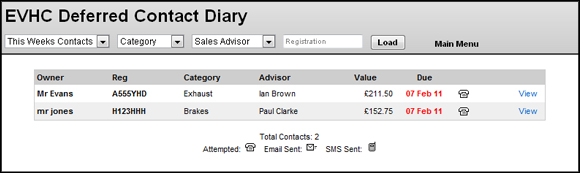New look Deferred Contact Diary